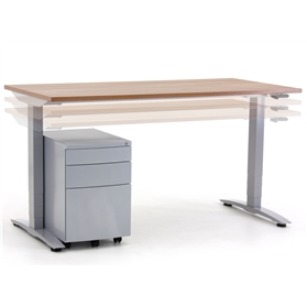 Verco Oblique Adapt - Height Adjustable Desk, Manual Adjustment